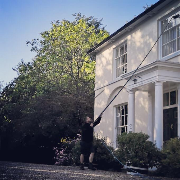 Water fed window cleaning